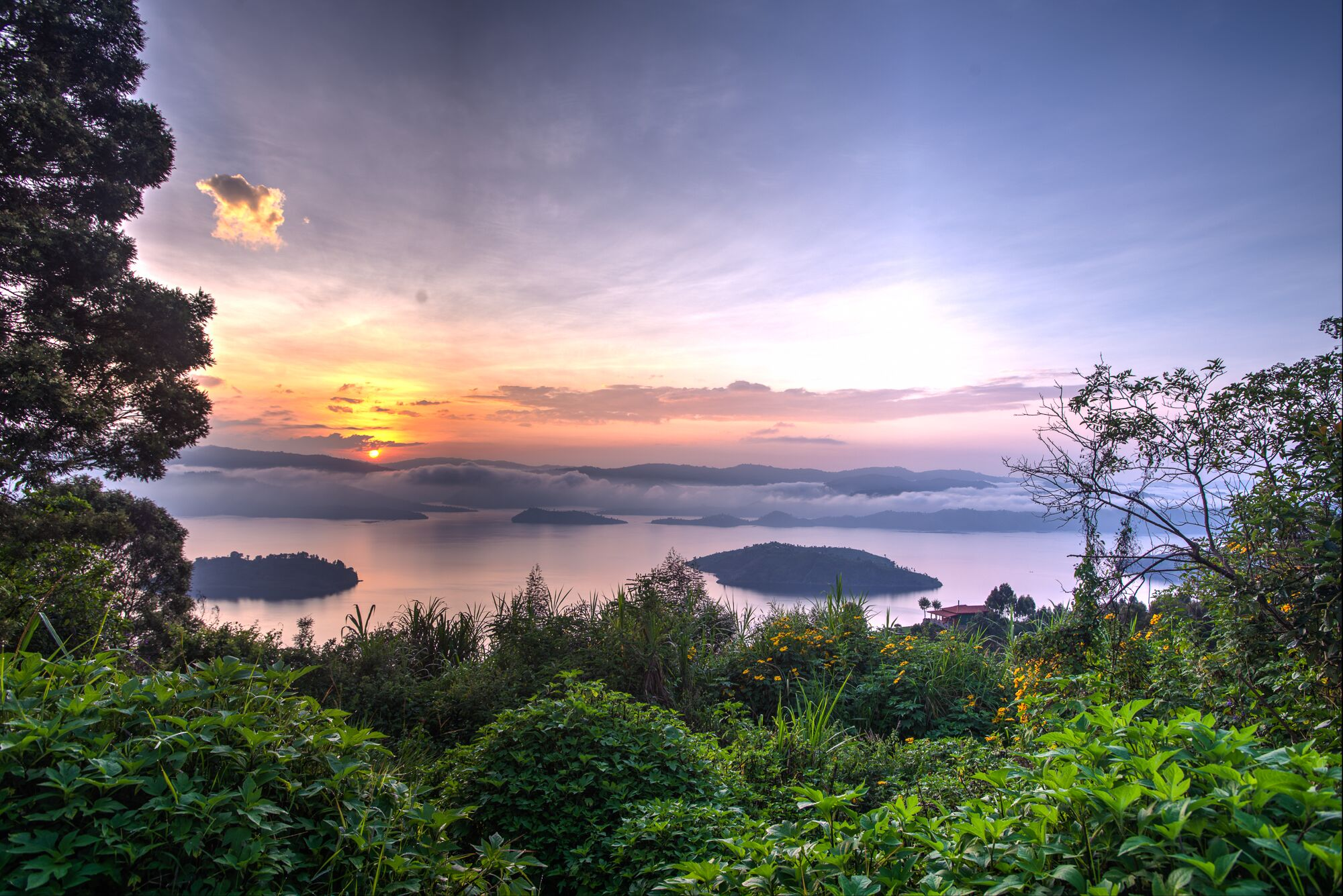 Virunga Sunset Panorama Preview