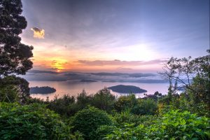 Volcanoes Safaris Virunga Sunset Panorama