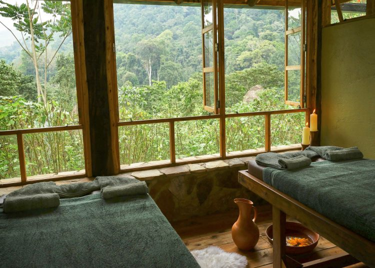 Forest Spa at the Bwindi Lodge