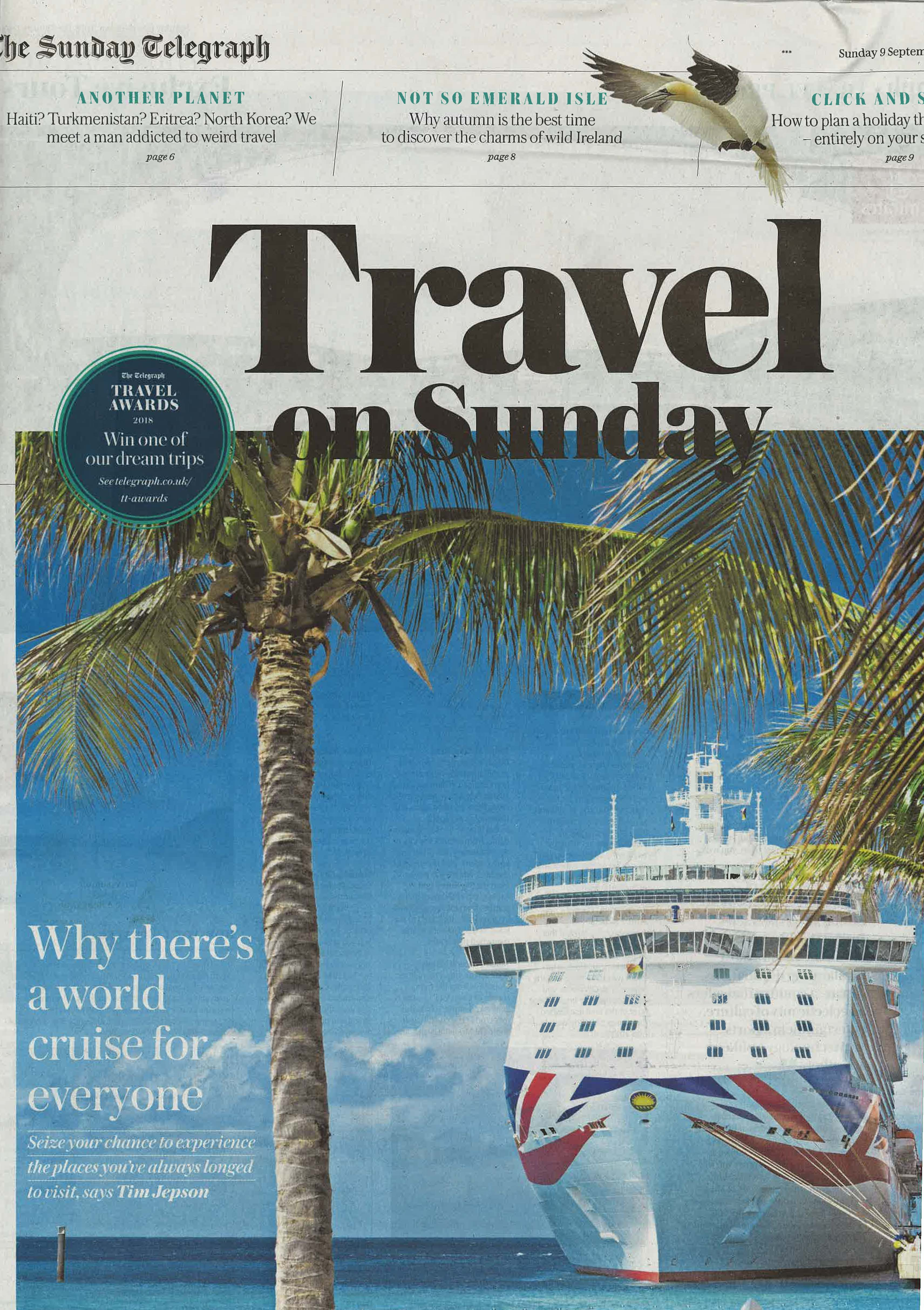 9 September Sunday Telegraph Travel Volcanoes Safari