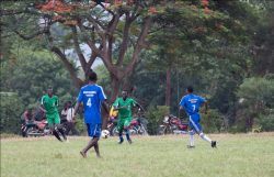Volcanoes Safaris Football Players