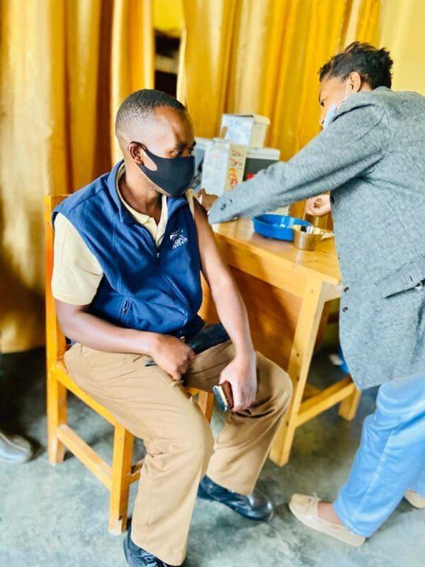 Virunga Lodge Staff Vaccinated