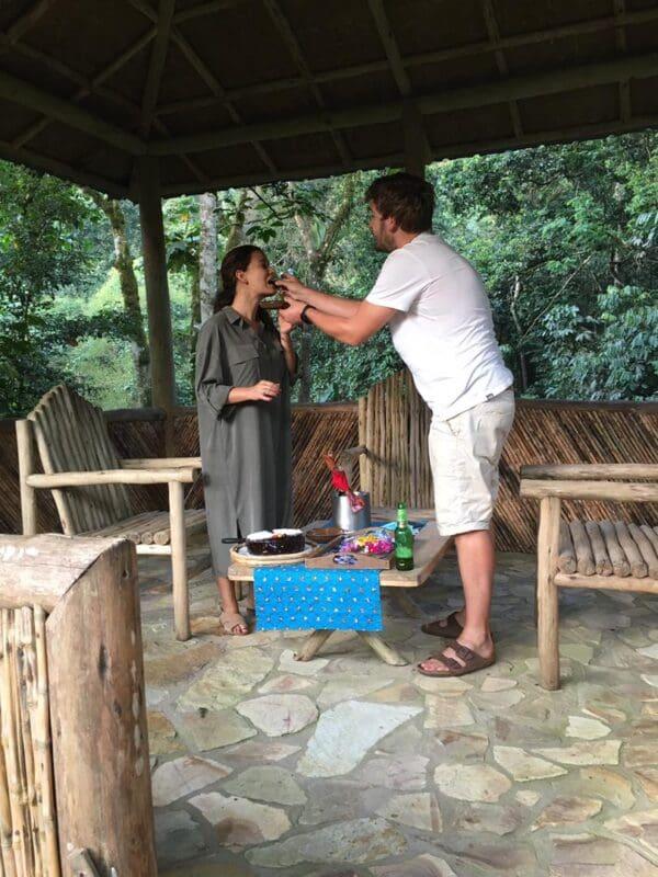 Proposal at Bwindi Lodge